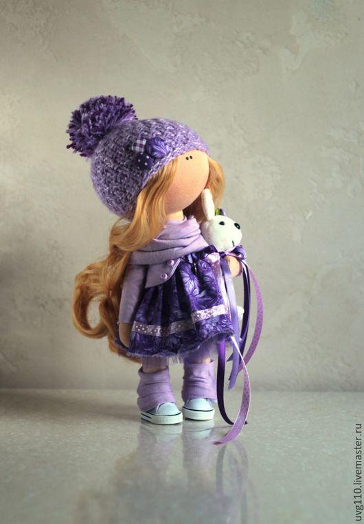 Коллекционные куклы ручной работы. Ярмарка Мастеров - ручная работа. Купить Лаванда. Handmade. Фиолетовый, сирень, кукла, кукла Тильда