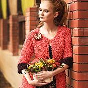 """Одежда ручной работы. Ярмарка Мастеров - ручная работа Жакет и брошь """"Красная смородина"""". Handmade."""