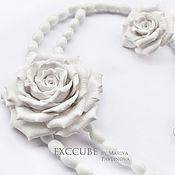 Свадебный салон ручной работы. Ярмарка Мастеров - ручная работа Свадебный комплект нежные розы. Handmade.