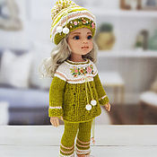 Куклы и игрушки handmade. Livemaster - original item Clothes for dolls. Green-peach costume