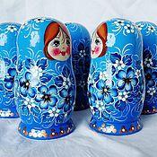 Русский стиль handmade. Livemaster - original item Matryoshka floral , 5 seats, Morning .. Handmade.