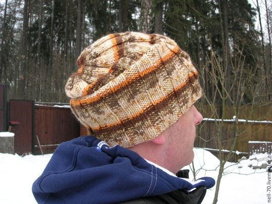"""Для мужчин, ручной работы. Ярмарка Мастеров - ручная работа. Купить Мужская шапка """"Для тебя-5"""". Handmade. Рисунок"""
