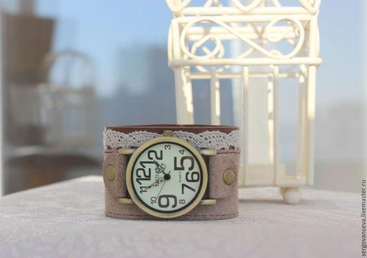 """Часы ручной работы. Ярмарка Мастеров - ручная работа. Купить Часы """"Мадам"""". Handmade. Бежевый, ремешок для часов, кружевной аксессуар"""