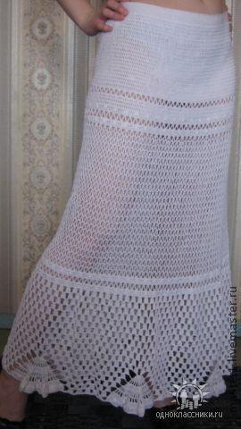 Юбки ручной работы. Ярмарка Мастеров - ручная работа. Купить Юбка. Handmade. Белый, юбка, юбка крючком, ажурная юбка