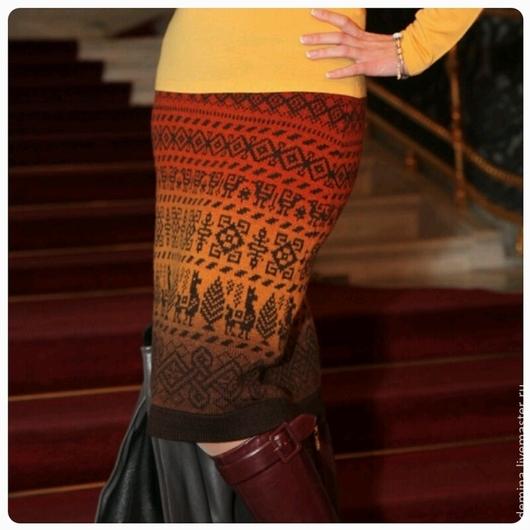 Юбки ручной работы. Ярмарка Мастеров - ручная работа. Купить юбка-перуанка1. Handmade. Вязаная юбка, перуанка, кауни