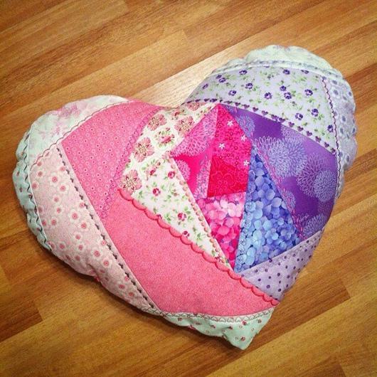 """Текстиль, ковры ручной работы. Ярмарка Мастеров - ручная работа. Купить Подушка """"Сердце"""". Handmade. Крэзи, подушка декоративная, девочке"""