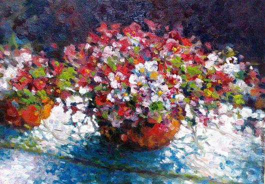 Натюрморт с цветами. 40х50