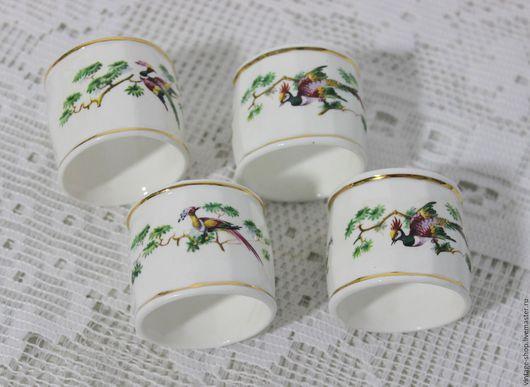 Винтажная посуда. Ярмарка Мастеров - ручная работа. Купить Фарфоровые кольца для салфеток, Англия Connoisseur. Handmade. Белый, английский стиль