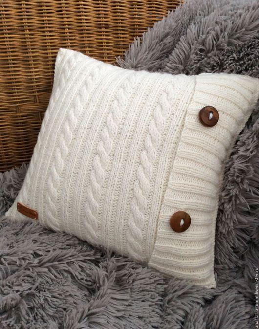 """Текстиль, ковры ручной работы. Ярмарка Мастеров - ручная работа. Купить Подушка """"Vanilla"""". Handmade. Белый, подушка на диван, Подушки"""
