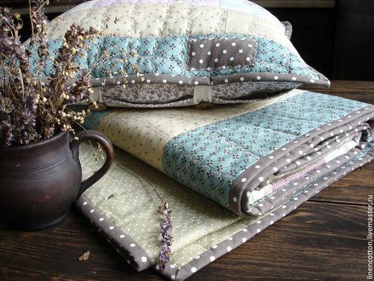 """Текстиль, ковры ручной работы. Ярмарка Мастеров - ручная работа. Купить """"Горошковые сны"""" лоскутный комплект. Handmade. Бежевый, деревня"""