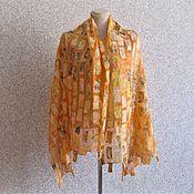 Аксессуары handmade. Livemaster - original item Original gift for women Summer felted stole on silk. Handmade.
