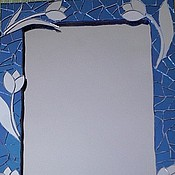 """Для дома и интерьера ручной работы. Ярмарка Мастеров - ручная работа Зеркало в рамке из зеркальной мозаики """"Тюльпаны"""". Handmade."""