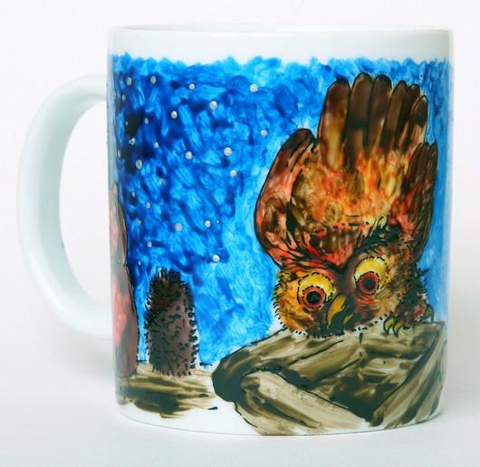 """Кружки и чашки ручной работы. Ярмарка Мастеров - ручная работа. Купить Чашка """"Ежик в тумане"""" большая. Handmade. Ежик в тумане"""