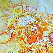 Картины и панно ручной работы. Ярмарка Мастеров - ручная работа Подсолнухи. Солнечные цветы желаний. Груша цвета солнца.. Handmade.