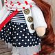 Коллекционные куклы ручной работы. Иришка, 24см - интерьерная кукла. Светлана Теницкая. Ярмарка Мастеров. Текстильная игрушка, морская тема