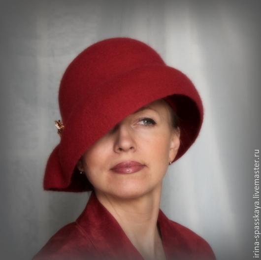 """Шляпы ручной работы. Ярмарка Мастеров - ручная работа. Купить Дамская шляпка """" Рas de deux красной орхидеи"""". Handmade."""