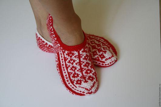 Обувь ручной работы. Ярмарка Мастеров - ручная работа. Купить Домашние тапочки. Handmade. Комбинированный, следки, подарок, шерсть