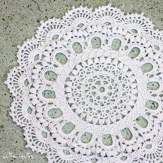 Текстиль, ковры ручной работы. Ярмарка Мастеров - ручная работа. Купить Кружевная белая салфетка. Handmade. Белый, винтаж