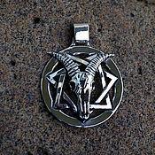 Украшения handmade. Livemaster - original item The star of the Magi with the skull of Baphomet and the rune of the soul. Handmade.