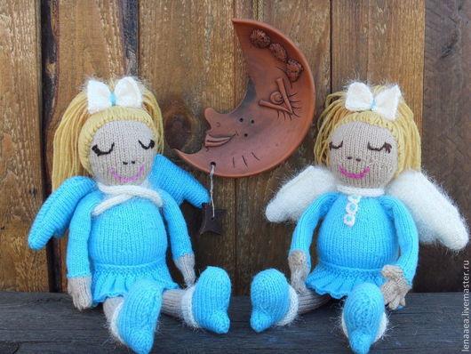 Коллекционные куклы ручной работы. Ярмарка Мастеров - ручная работа. Купить Ангел-хранитель снов. Кукла вязаная.. Handmade. Ангел
