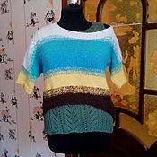"""Одежда ручной работы. Ярмарка Мастеров - ручная работа Пуловер """"Краски лета"""". Handmade."""