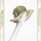 Аксессуары handmade. Livemaster - original item Hats.Summer hat with a brim.Raffia hat.Stylish hat to order.. Handmade.