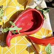 Посуда handmade. Livemaster - original item PEPPER | PEPPER / Salt Shaker Pepper Shaker Saucer | Ceramic | Ceramic. Handmade.