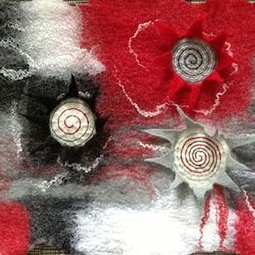 """Для дома и интерьера ручной работы. Ярмарка Мастеров - ручная работа """"Эмоции...""""  Коврик войлочный. Handmade."""