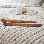 handmade. Livemaster - original item Large knitting Needles to knit of Wood 40mm/500#19. Handmade.