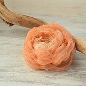 Украшения handmade. Livemaster - original item Brooch from fabric Coral. Handmade.