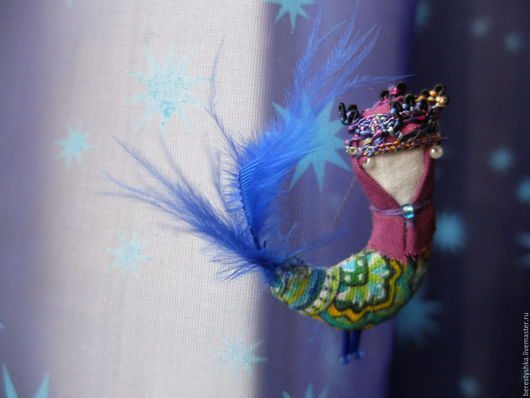 Народные куклы ручной работы. Ярмарка Мастеров - ручная работа. Купить брошь птицы Руси. Handmade. Русь волшебная, Гамаюн