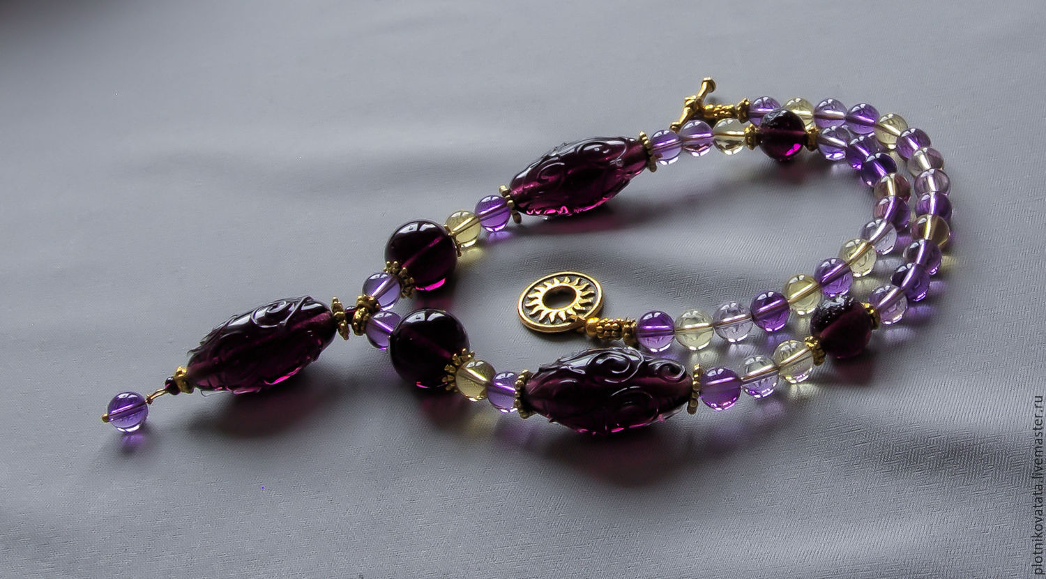 Magic night necklace with ametrine, Necklace, St. Petersburg,  Фото №1