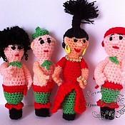 """Куклы и игрушки ручной работы. Ярмарка Мастеров - ручная работа Пальчиковые игрушки """"Разбойники"""". Handmade."""
