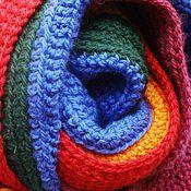 Аксессуары ручной работы. Ярмарка Мастеров - ручная работа Радужный шарф с бахромой. Handmade.