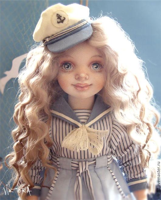 Коллекционные куклы ручной работы. Ярмарка Мастеров - ручная работа. Купить Инна. Handmade. Голубой, коллекционирование, ручная работа, арт