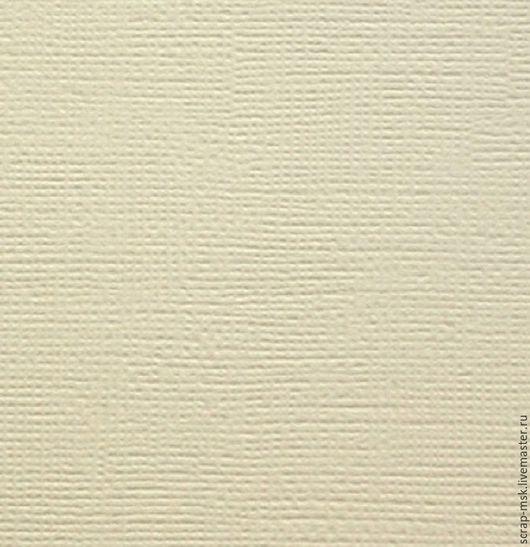 Открытки и скрапбукинг ручной работы. Ярмарка Мастеров - ручная работа. Купить Кардсток текстурированный Слоновая кость 12049. Handmade.