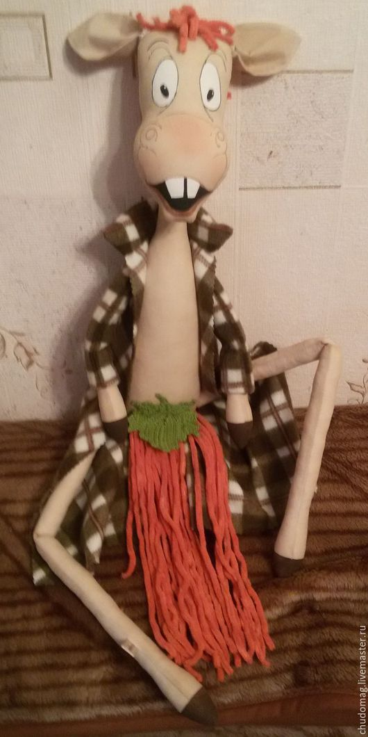 Игрушки животные, ручной работы. Ярмарка Мастеров - ручная работа. Купить Конь. Handmade. Оригинальный подарок, подарок, интерьерная кукла