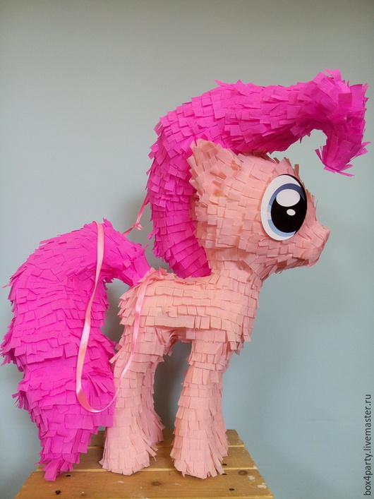 Сказочные персонажи ручной работы. Ярмарка Мастеров - ручная работа. Купить Пиньята Литл пони Pinkie pie. Handmade. Розовый