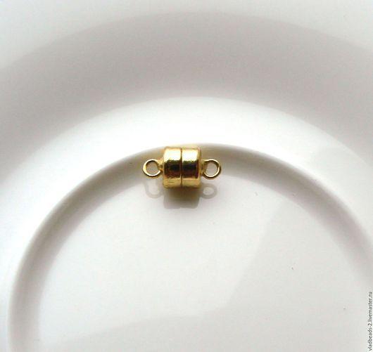 Для украшений ручной работы. Ярмарка Мастеров - ручная работа. Купить Замочек магнитный 6х5мм цвет под золото. Handmade.