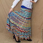 Одежда ручной работы. Ярмарка Мастеров - ручная работа Юбка-сарафан по мотивам Миссони. Handmade.