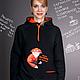 Women's hoodie loose, long black Fox hoodie, hoodie. Sweater Jackets. Lara (EnigmaStyle). Online shopping on My Livemaster.  Фото №2