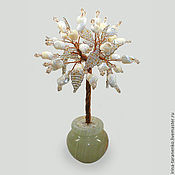 Цветы и флористика handmade. Livemaster - original item Trees: Love the tree of pearl in the vase of onyx. Handmade.