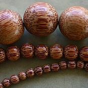 Бусины ручной работы. Ярмарка Мастеров - ручная работа Деревянные бусины, пальмовое дерево, 5мм, 10мм, 18мм, 24 мм. Handmade.