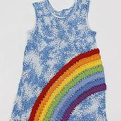 Работы для детей, ручной работы. Ярмарка Мастеров - ручная работа платье Радуга. Handmade.