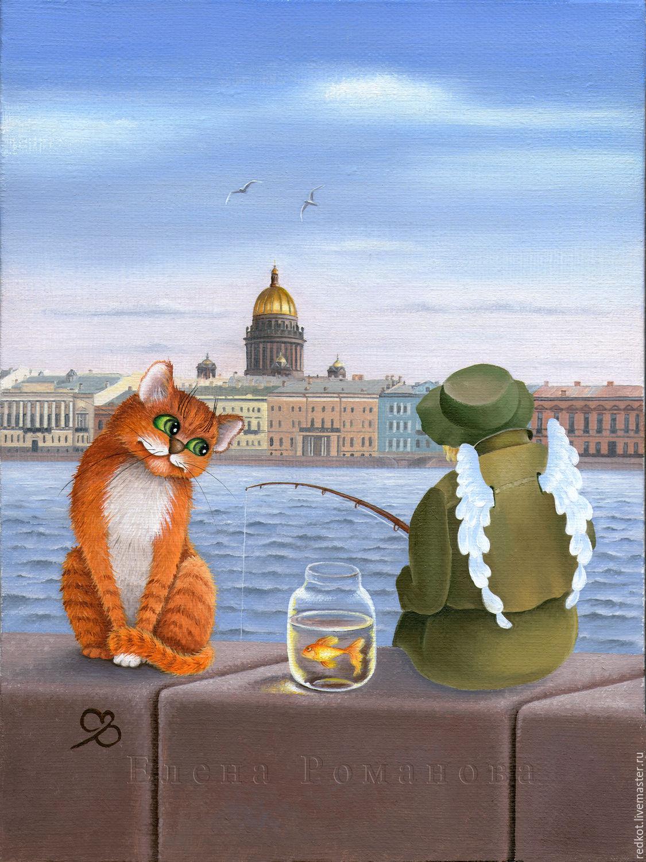 Ватсапе картинки, открытка коты питера