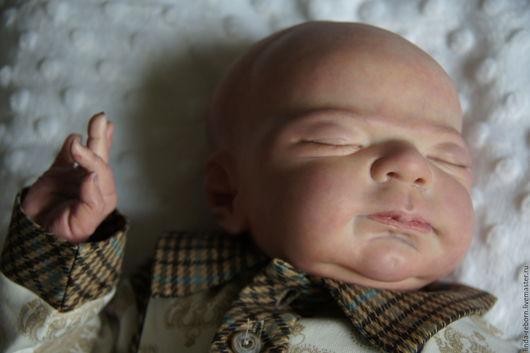 """Куклы-младенцы и reborn ручной работы. Ярмарка Мастеров - ручная работа. Купить Малыш сплюшка """"Knox"""". Handmade. Бежевый"""