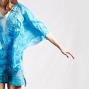 Одежда ручной работы. Ярмарка Мастеров - ручная работа Бирюзовое платье, бохо-шик. Handmade.