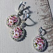 handmade. Livemaster - original item Earrings and pendant