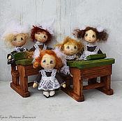 Куклы и игрушки ручной работы. Ярмарка Мастеров - ручная работа Крошки школьницы . Свободна одна куколка!. Handmade.