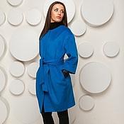 Одежда handmade. Livemaster - original item Woolen coat blue AMODAY. Handmade.